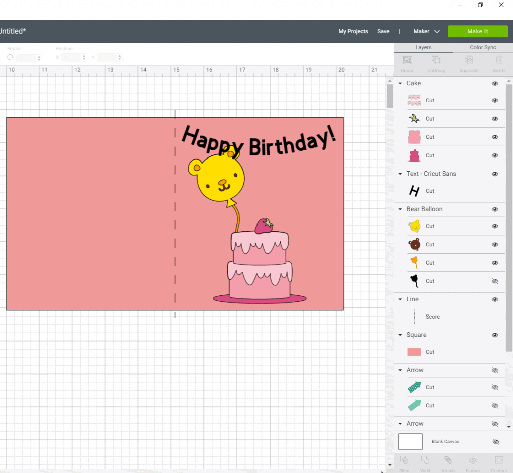 An example of a birthday card to show you all the layers and an explanation of the layers