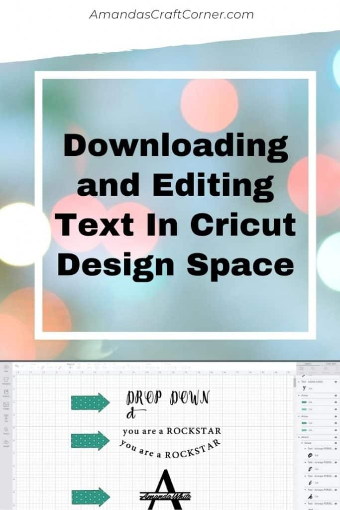 Downloading and Editing Text with Cricut Design Space