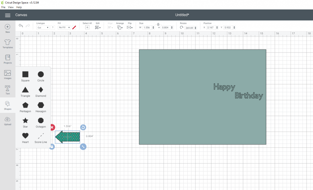 Adding a score-line and attaching it on your canvas in cricut design space