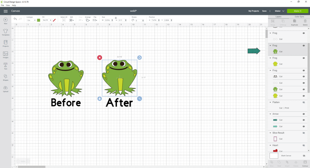Before and after results. See the frog is just how you wanted him now:)