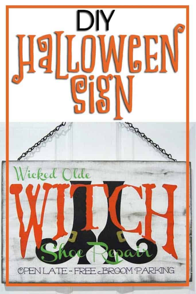Angie's DIY Witch Show Repair Halloween Sign
