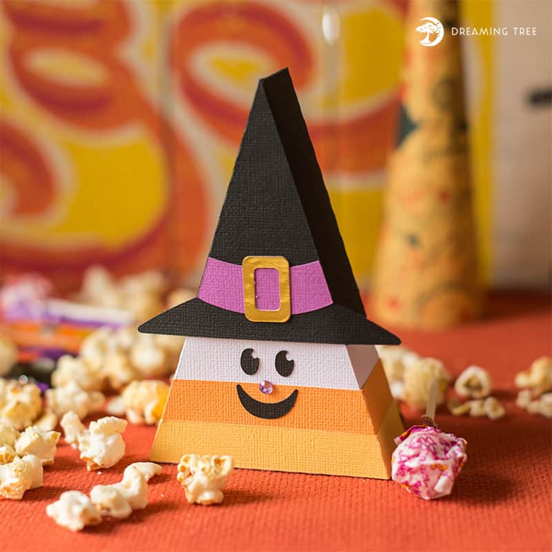 Candy Corn lovers UNITE!!! I think candy corn items are just the cutest! This candy corn witch made by Dreaming Tree would be an adorable addition to your Halloween  Decor.