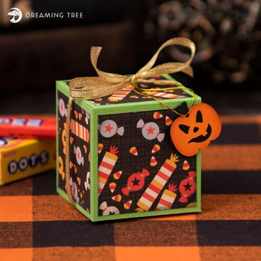 This Halloween Candy Treat Box would be a spooktacular gift this Halloween season!