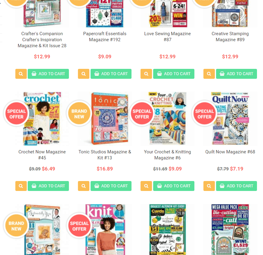 Give those special crafters a subscription or magazine  this holiday season. These magazines have been so helpful!