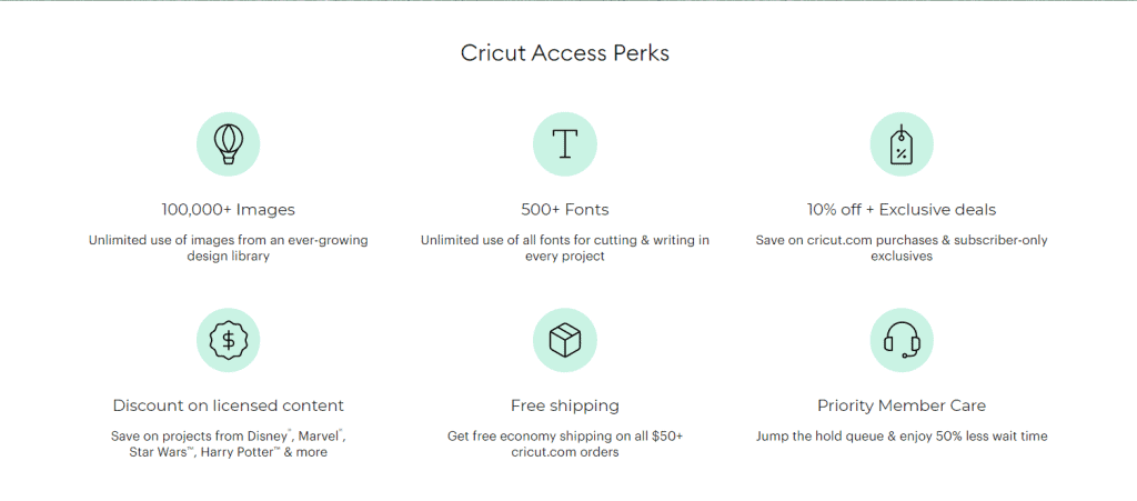 The greatest gift for that cricut crafter! The cricut all access pass that offers two different subscriptions and well worth the money!