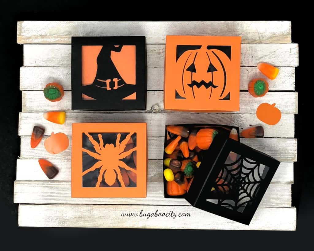 Kim made these decorative Halloween Boxes for treats to go in and is offering the free files for this box!