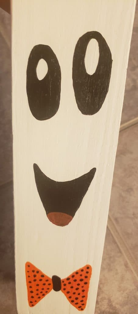 DIY family Halloween project-Our ghost face close up