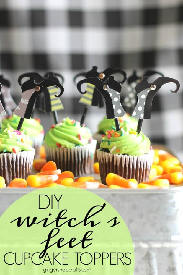 Ginger from Ginger Snap Crafts made these adorable DIY Witch's Feet Cake Toppers and wrote a tutorial for us explaining how to make these and the steps she took. BONUS- This isn't just one tutorial  but three