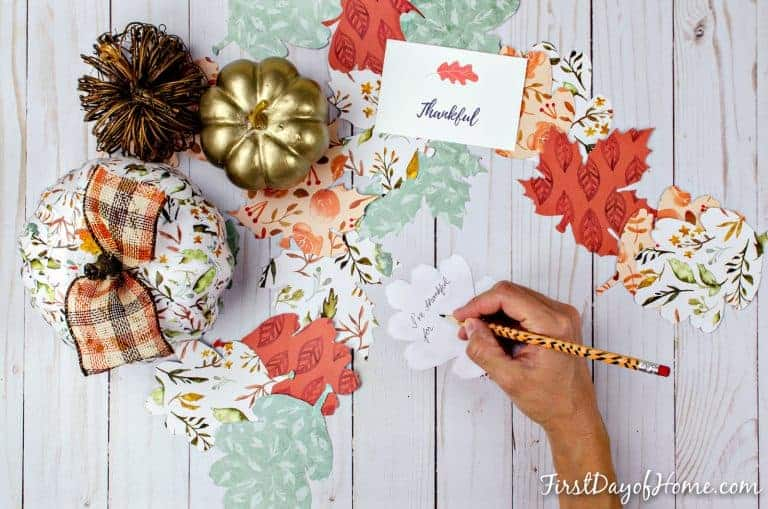 Crafting up a Gratitude Tree Activity for Families by Chrissy at First Day of Home
