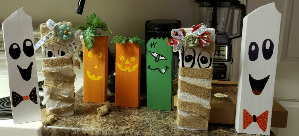 Our cute fun Happy Halloween Family that we made.