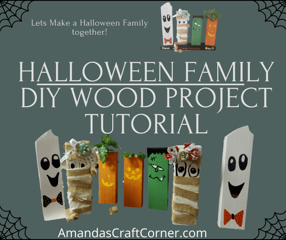 Halloween Family DIY Wood Project Tutorial by Amandas Craft Corner would be a a fun family DIY project.