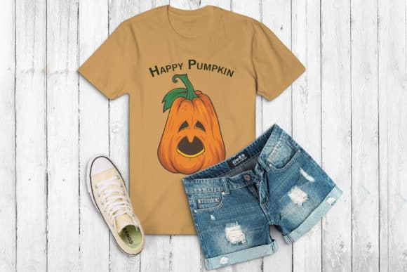 This cute Happy Pumpkin Fall SVG file created by FounDream is just adorable and gets you into the spirit!