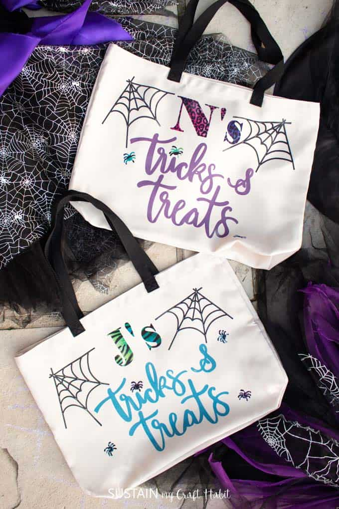 Are the kiddos fighting about which Halloween bag they want and you're going to go batty listening to it? BAHAHA Well this would be a killer idea for those times.