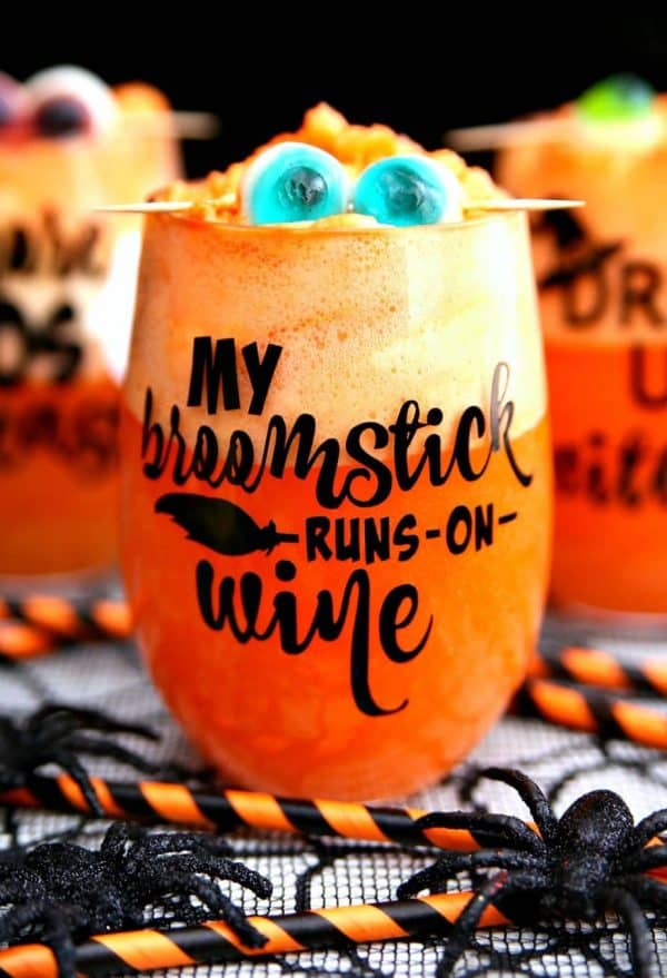 DIY Family fun Halloween Wine Glass And spiked Halloween Punch Tutorial by Happy Go Lucky