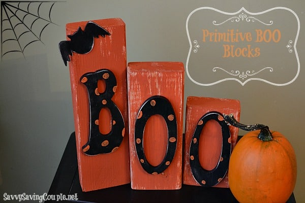 Amy over at the SAVVY Saving Couple has this Beautiful Boo Blocks tutorial so that we can make our own Halloween Decorations.