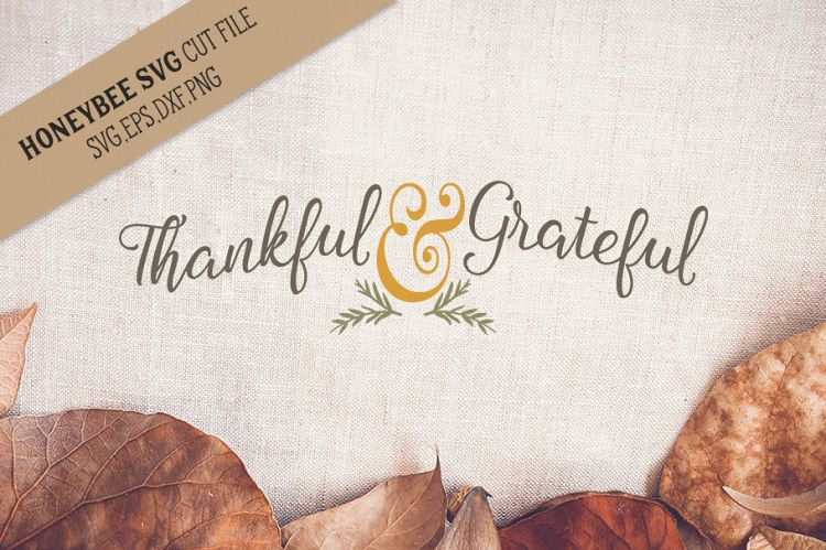 Thankful and grateful created by HoneyBee SVG