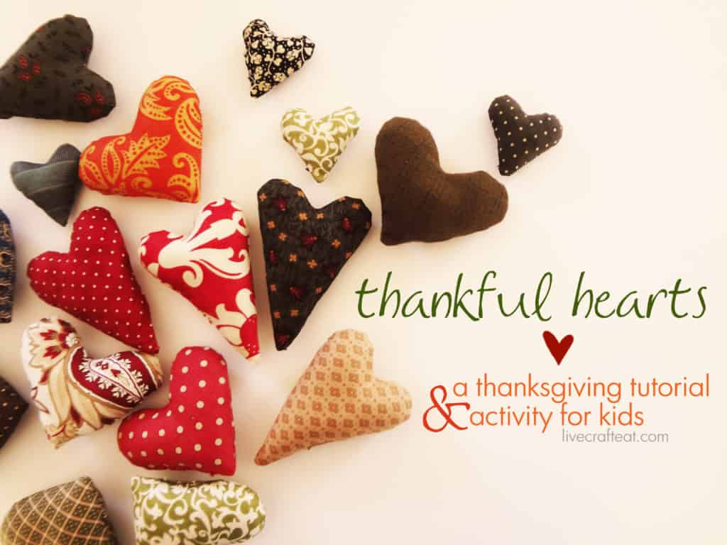 Thankful Hearts Crafting Tutorial Tutorial by Live Craft Eat