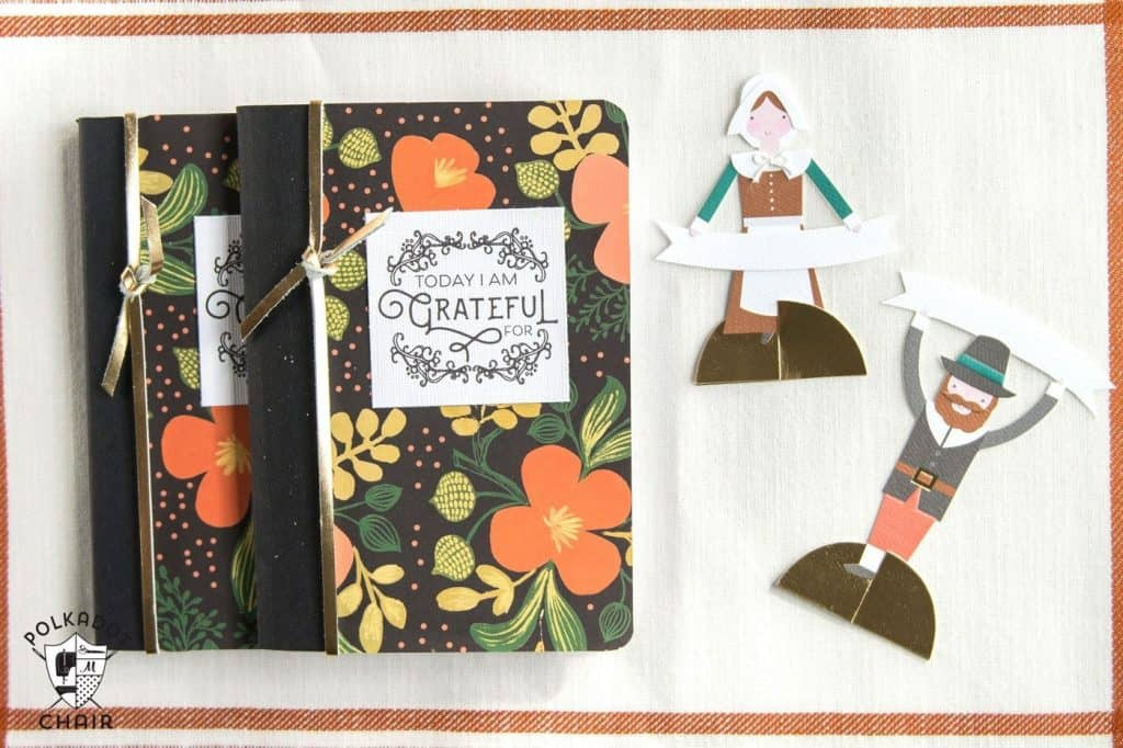 Crafting DIY Thanksgiving Gratitude Journal and a free printable created by Polka Dot Chair