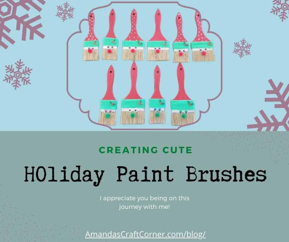 Lets Create as a family with these adorable Holiday Brushes