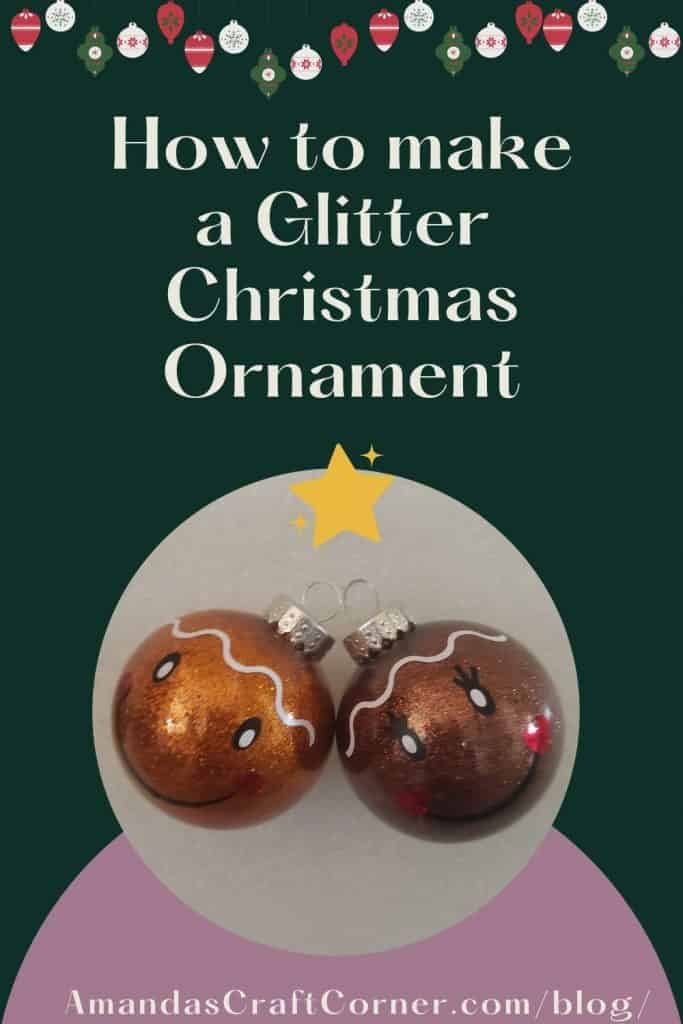 More cricut projects! Making glitter Christmas ornaments