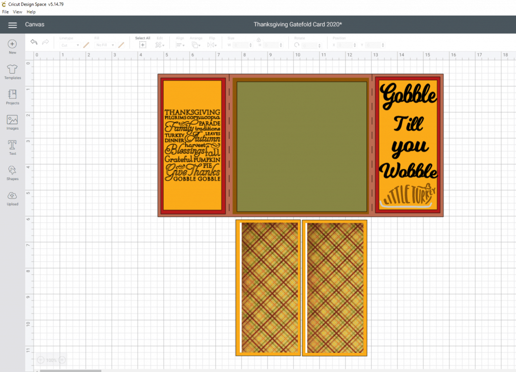 Thanksgiving Gatefold Card Tutorial- working on the side panel images and how to attach and where to find the images