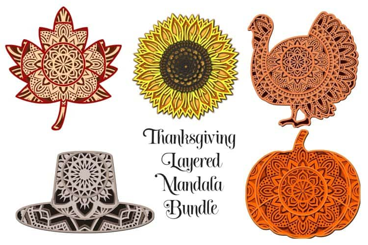 This Bundle of Thanksgiving 3D layered Mandalas by Digital Honey Bee  would be a great crafting project for your family to work on together this Thanksgiving Season. Just cut them and sit down as a family and put them together in many different ways. Once they are made you can frame them to make beautiful wall decor.