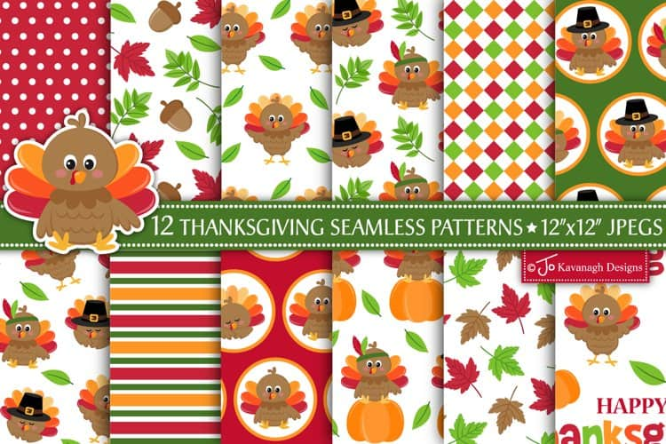 This Thanksgiving Digital paper pack created by Jo Kavanagh Designs  is excellent for those handmade cards or a scrapbook page. I love making cards and scrapbooking and this paper will definitely bring your project to life!