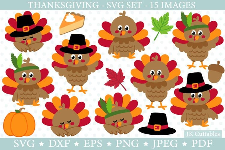 Thanksgiving Turkey SVG created by JK Cuttables is perfect for cardmaking, scrapbooking, signs, shirts and so much more