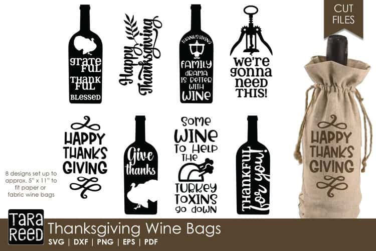 These Thanksgiving Wine Bags created by Tara Reed Designs would be perfect to gift to someone that just loves their wine! These are festive and I do have to say make perfect gifts that others just love!