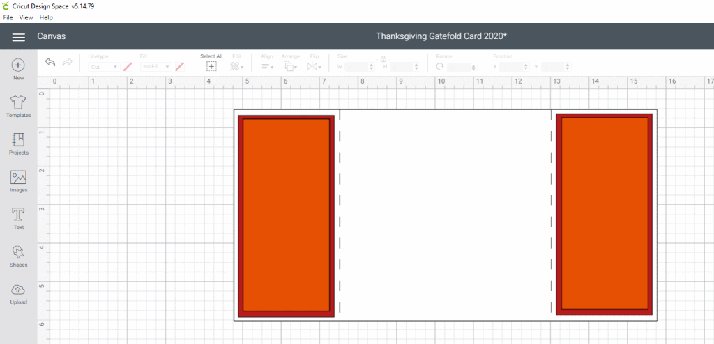 Thanksgiving Gatefold Card Tutorial- The side panels for the card base