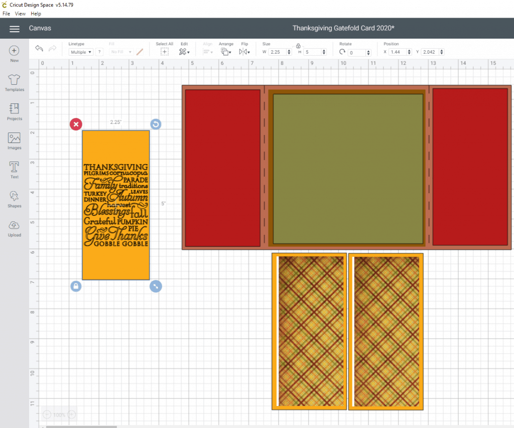Thanksgiving Gatefold Card Tutorial- Adding the images to the card