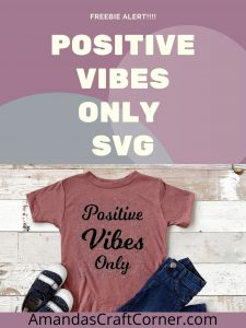 Free Positive Vibes Only SVG