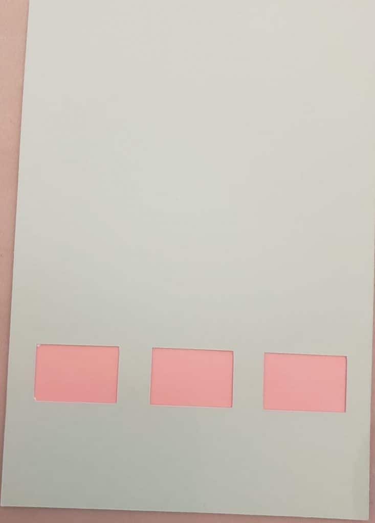 Pink part glued to the blue for our Valentines day Slot Machine card