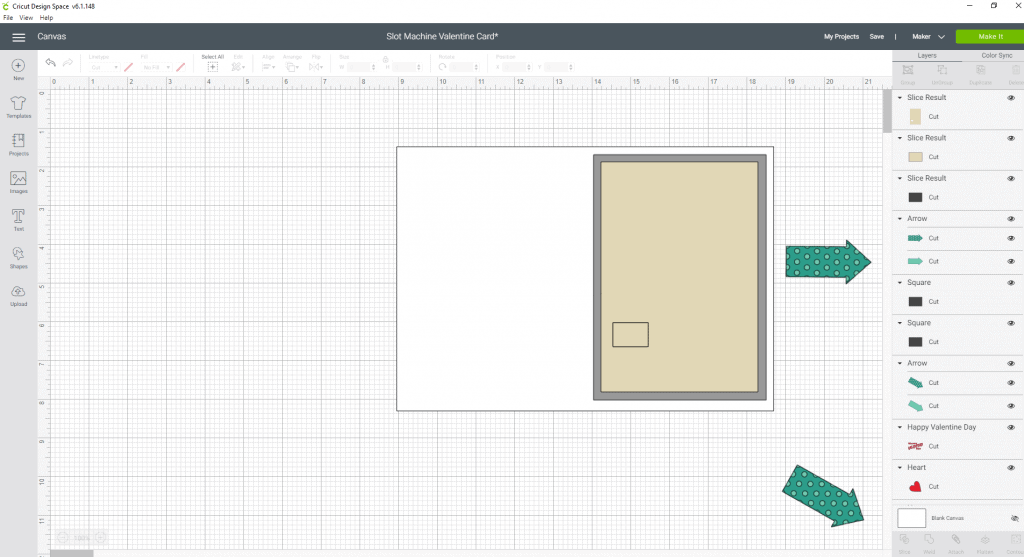 Slicing in cricut design space and how it works.