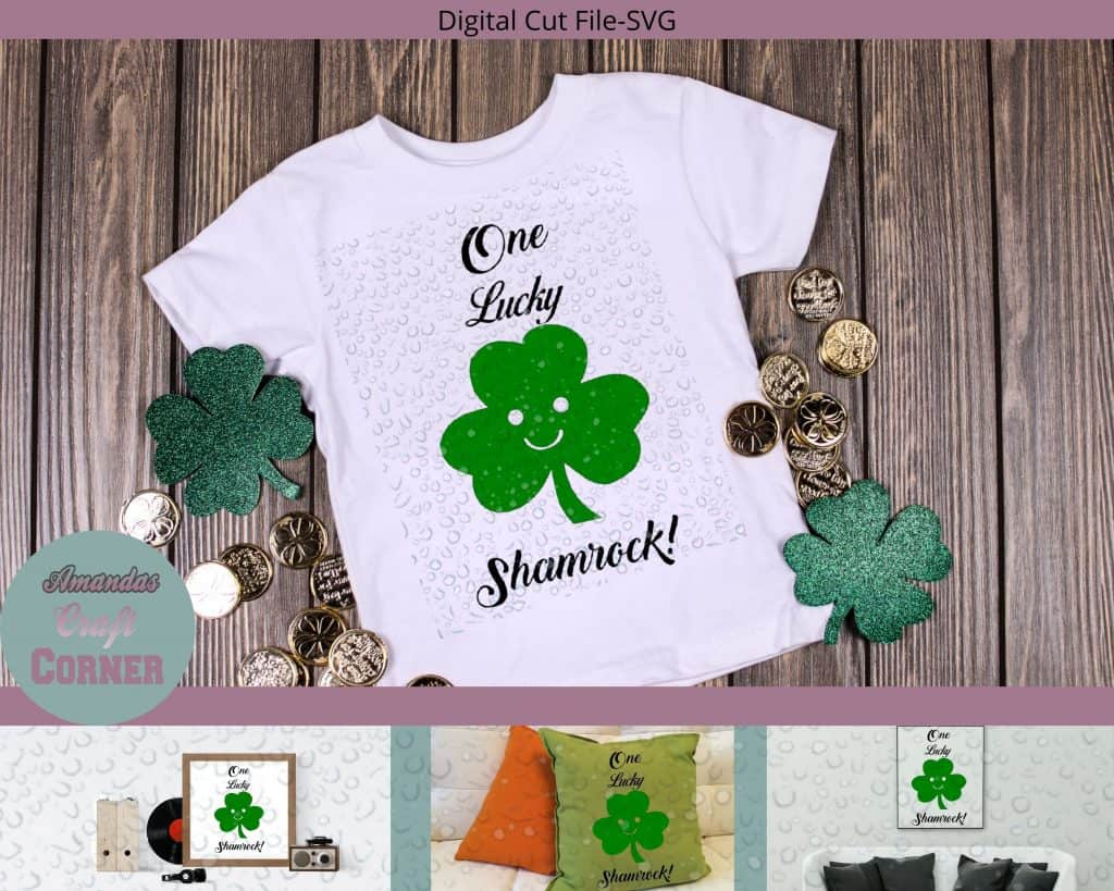 One Lucky Shamrock SVG-Amandas Craft Corner
