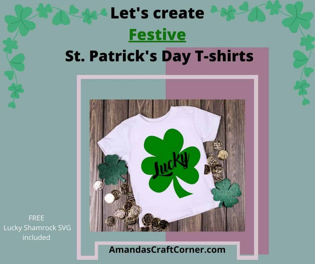 Lets create some Festive St. Patrick's Day T-shirts with our cricut cutting machine using Iron-on.