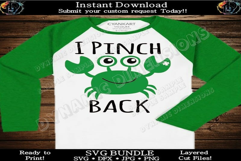 I pinch back with awesome St. Paddy's Day Crab SVG