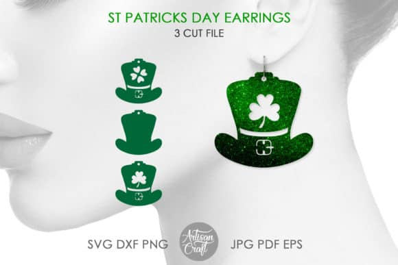 Festive and awesome St. Patrick's Day Earrings- Leprechaun Hats