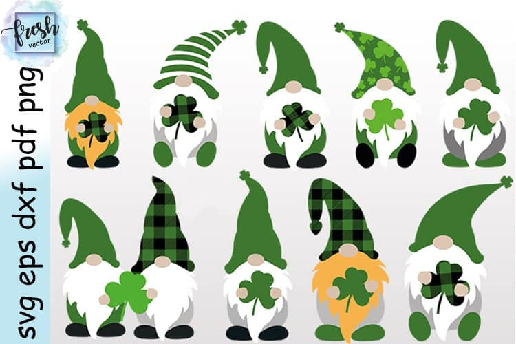 St. Patrick's Day Gnomes SVGs
