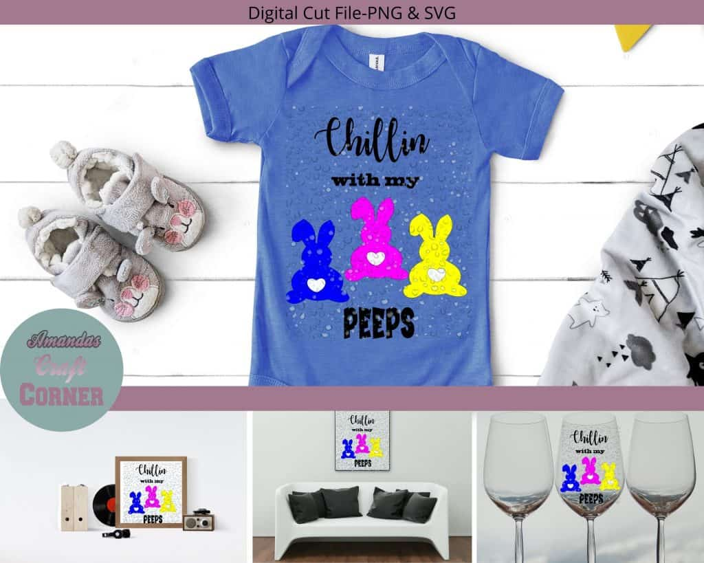 Chillin with my PEEPS SVG cut file-Amandas Craft Corner