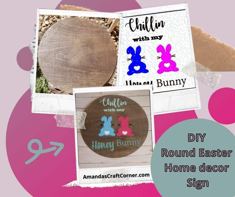 Step by Step Tutorial on how to create a round Easter Home Decor Sign