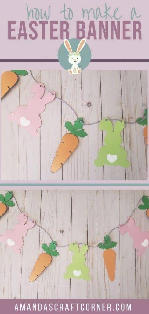 DIY Easter Bunny Banner-Bunny and Carrot Banner