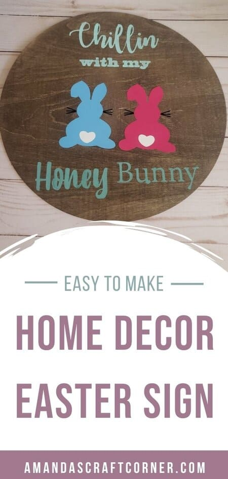 DIY Round Easter Home Decor Sign with FREE SVG