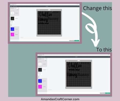 editing our cutting mats- rearranging the words