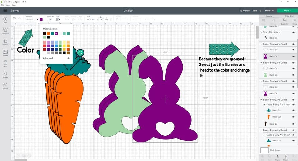 If you want to change the color of your bunnies this shows you how to do that
