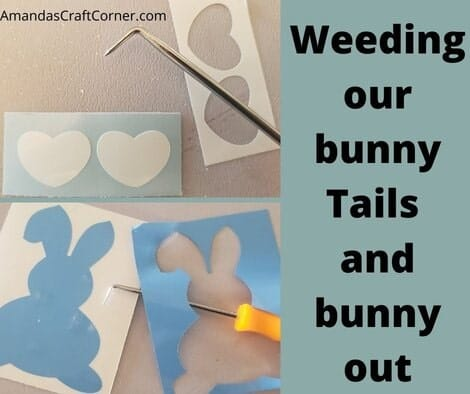 Weeding our our bunny tails and our bunnies!