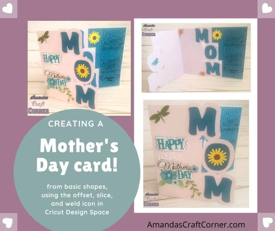 Creating and designing a DIY Mother's day Card using our cutting machine