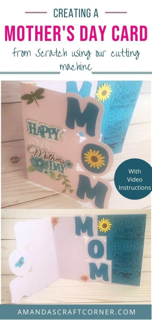 Creating a Beautiful Mother's day card- DIY from scratch with our cutting machine