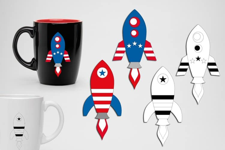 4th of July Day Rockets SVG