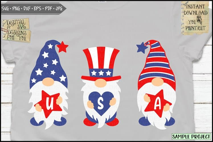 4th of July Day Gnomes- Perfect for those DIY Crafting Projects